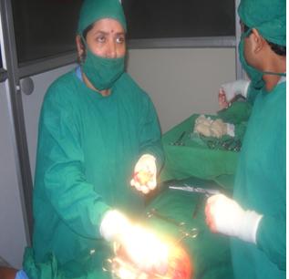 OPERATION OF FIBROADENOMA
