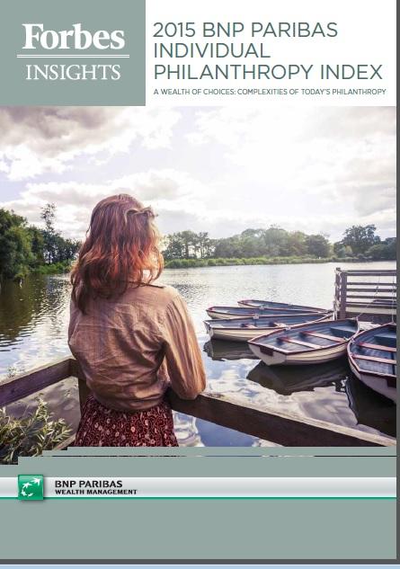 BNP Paribas World Philanthropy report 2015